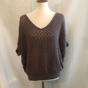 Nordstrom Frenchi Brown Knit layering sweater